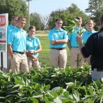 Nebraska State FFA Officers meet with United Farmers Cooperative Agronomists, Mike Zwingman and Brian Hunt, to discuss day-to-day career activities.