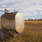Fuel tank tailer on the farm